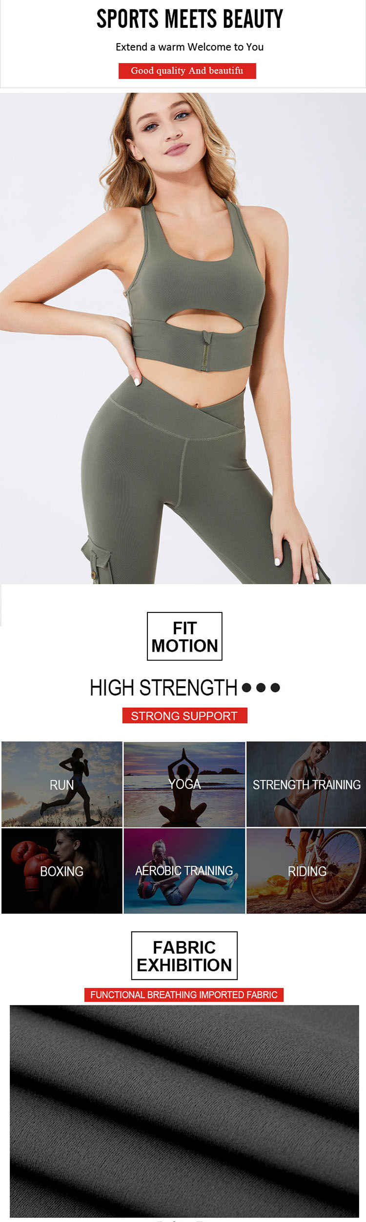 The pocket design is used in gym pants with pockets.