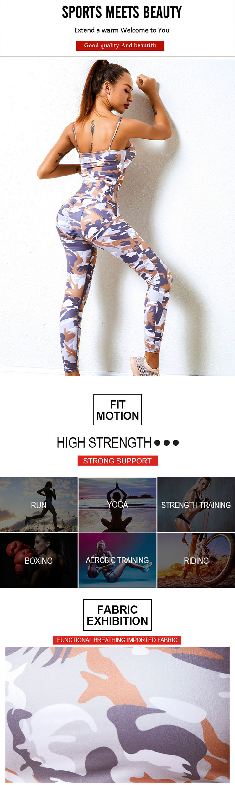 Trendy people who like camouflage gym leggings believe that a single product with camouflage patterns is indispensable