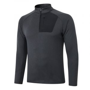 Long gym sleeve with zip pockets