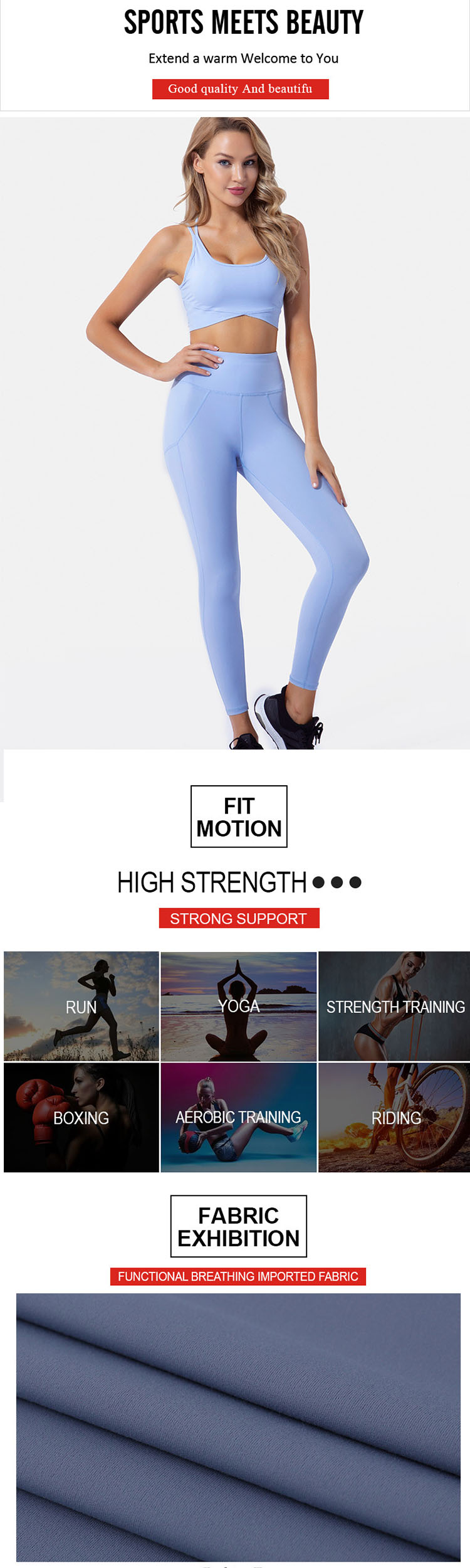 The selection of the green gym leggings profile can strongly wrap the auxiliary milk and bring better functional effects for female bodybuilders.