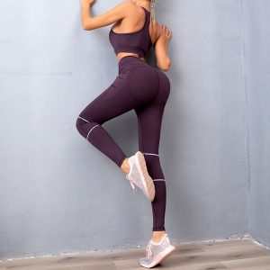 Womens black gym leggings