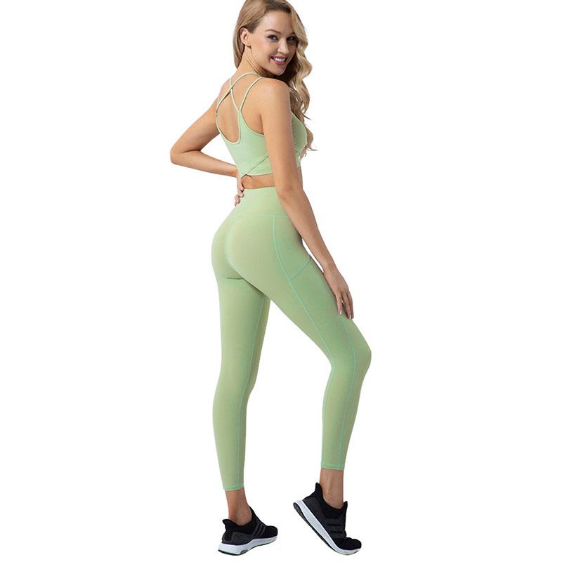 green gym leggings