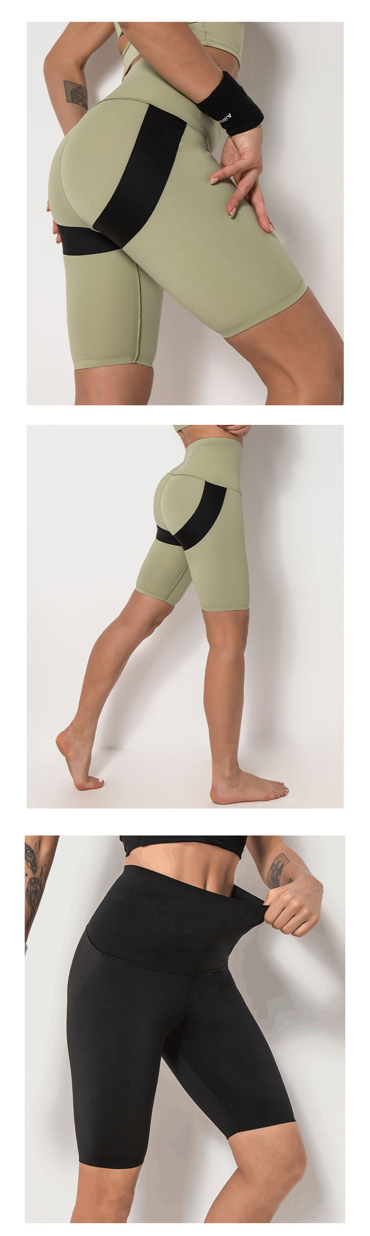 Double structure hip line design, highlighting the full buttocks.