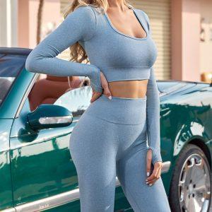 Female yoga pants