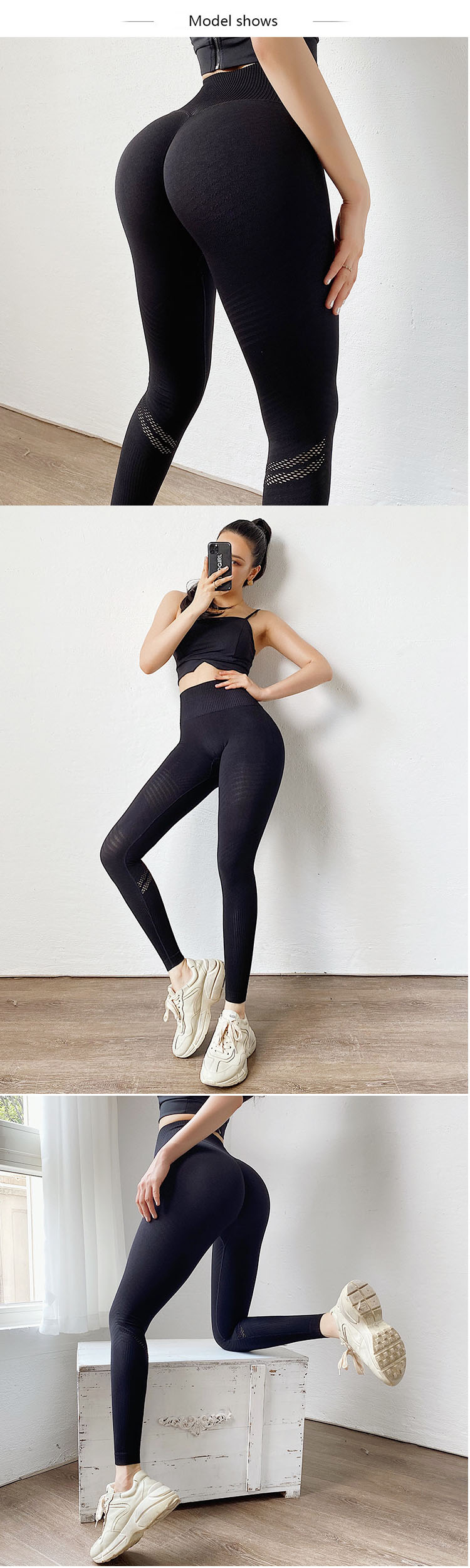 Knit yoga pants can be made of organic cotton