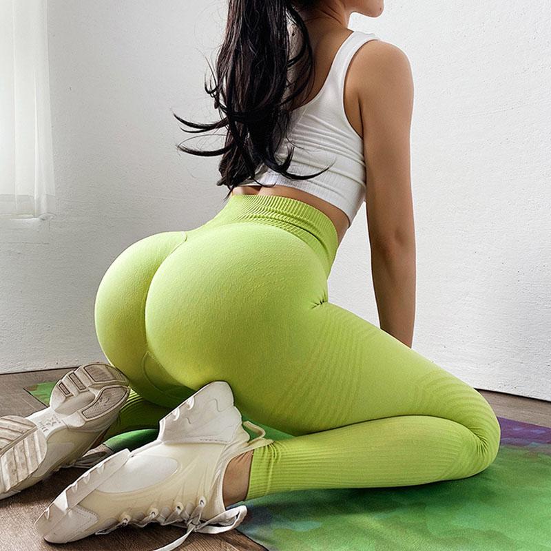Knit yoga pants