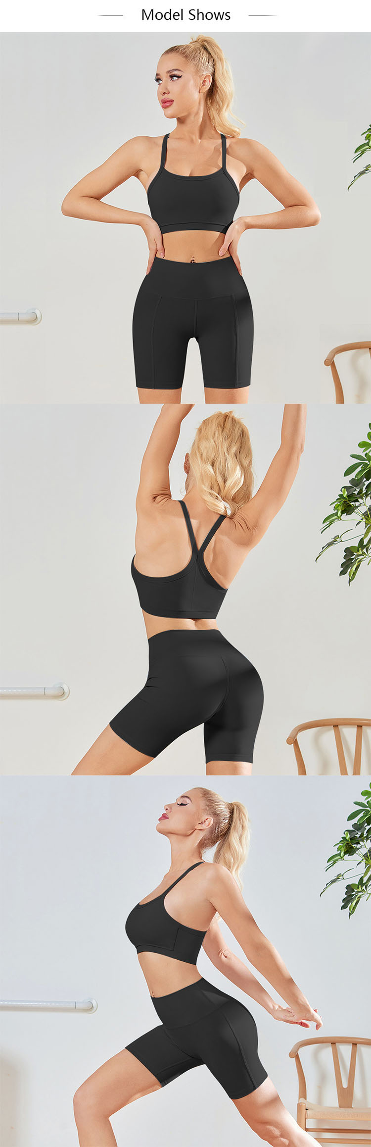 Leggings hot pants has a soft and smooth hand feel and is very skin-friendly.