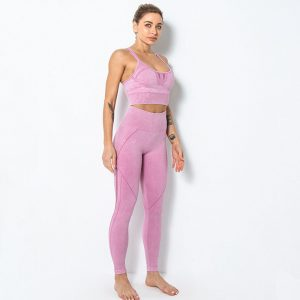Leggings without front rise seam