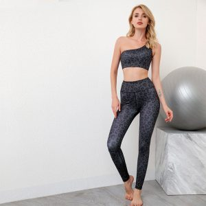 Leopard print sports leggings