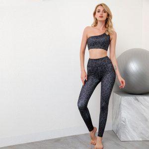 Leopard print sports leggings