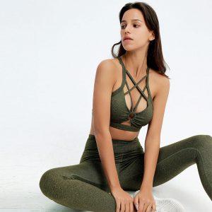 Matching sports bra and leggings