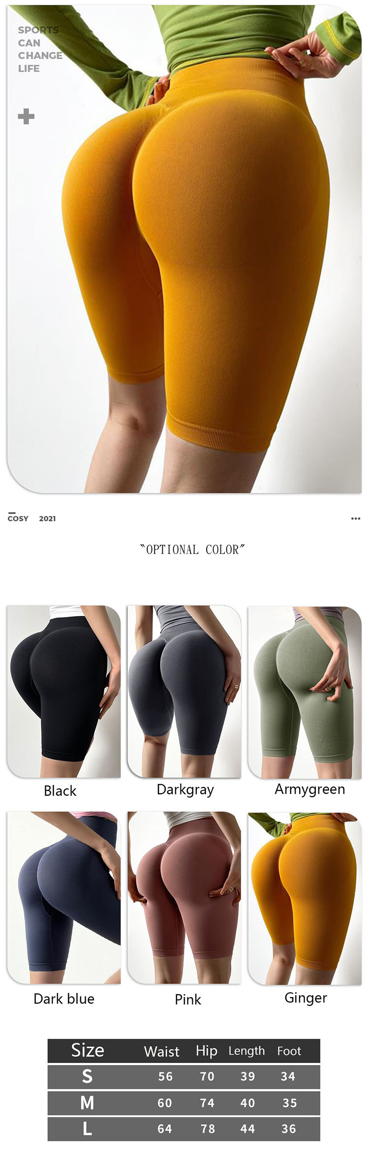 Practicability and functionality have become the key elements of the 2022 spring and summer running in yoga pants design.