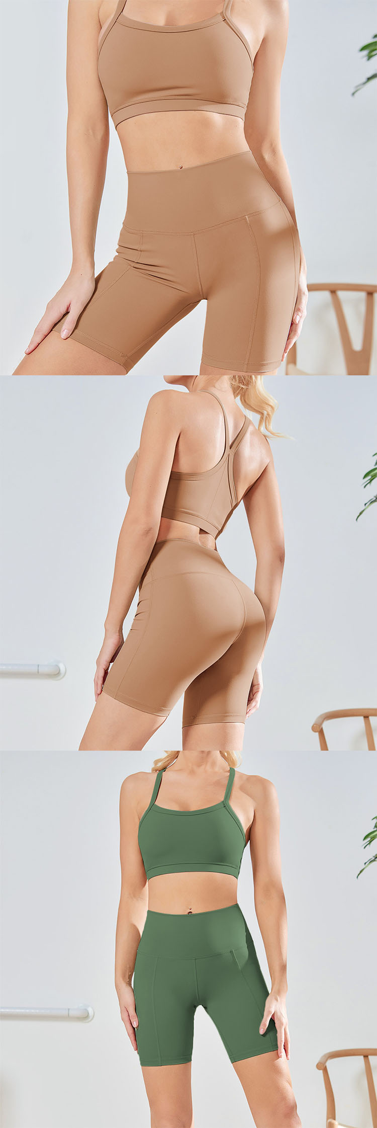 The high-waisted design wraps the belly fat and looks slim.