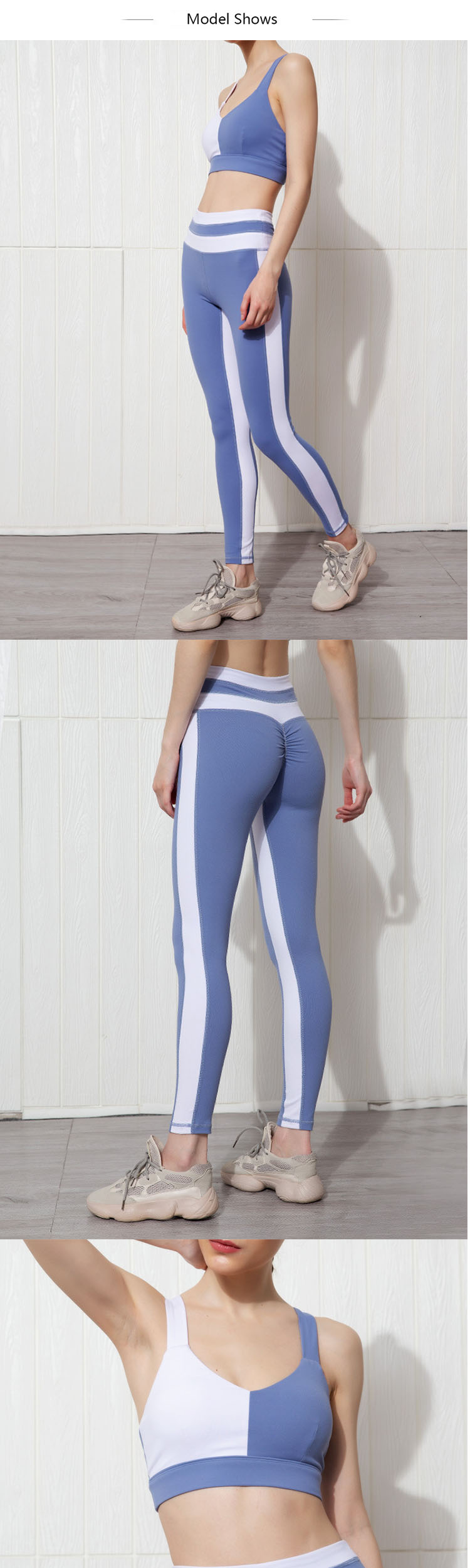 The leggings push up fitness brings a richer visual sense to the style