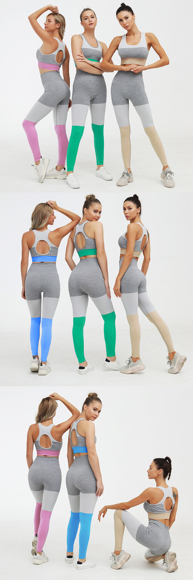 The seam leggings presents a very eye-catching visual effect.