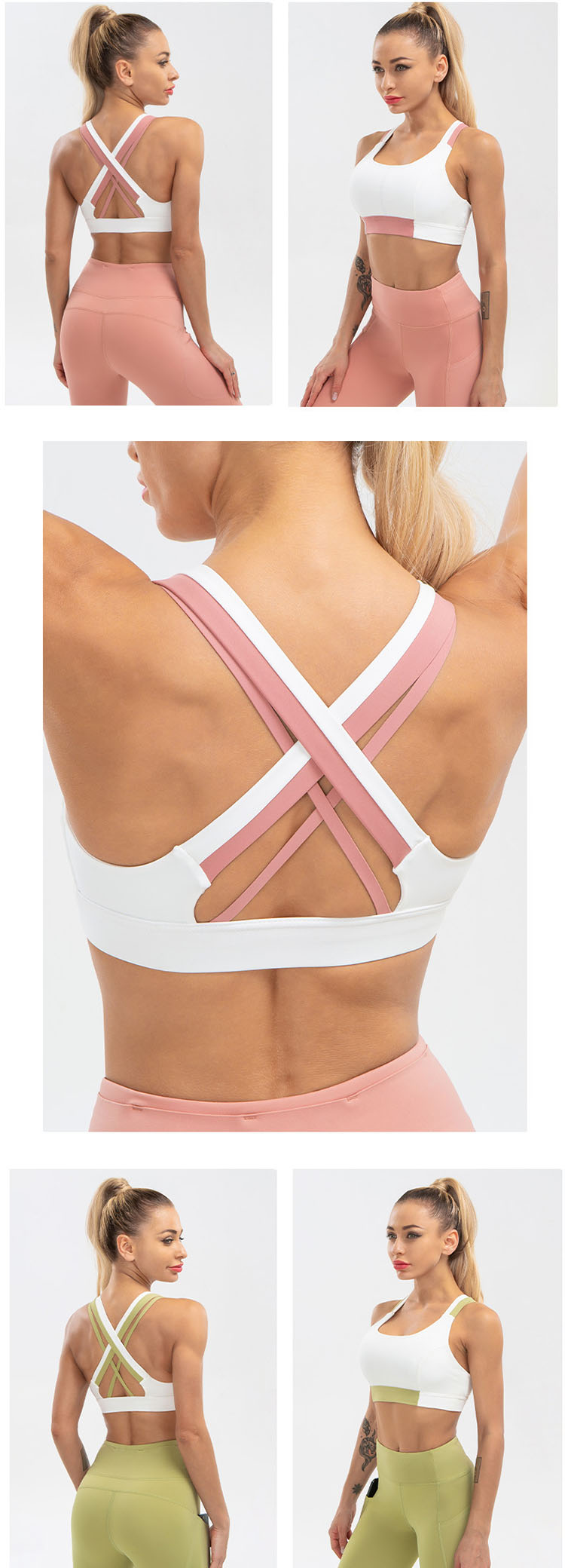Use contrasting color stitching to achieve the effect of modifying the skin color of the back, which is more fashionable.