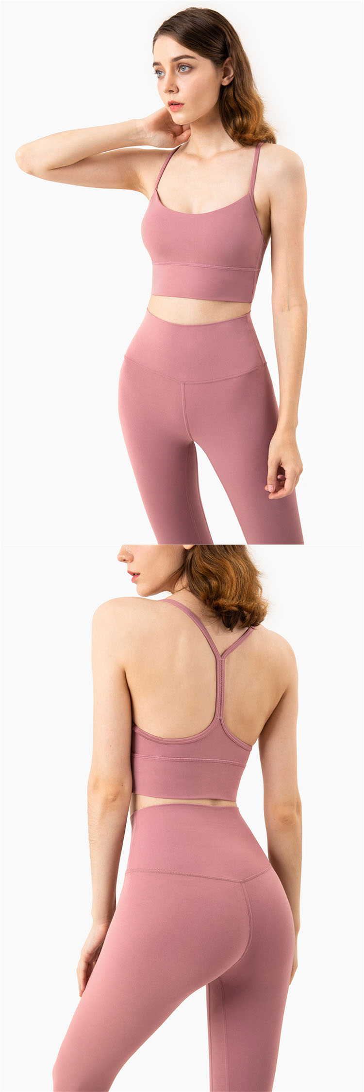 A sexy beautiful back is interwoven by delicate thin shoulder straps.