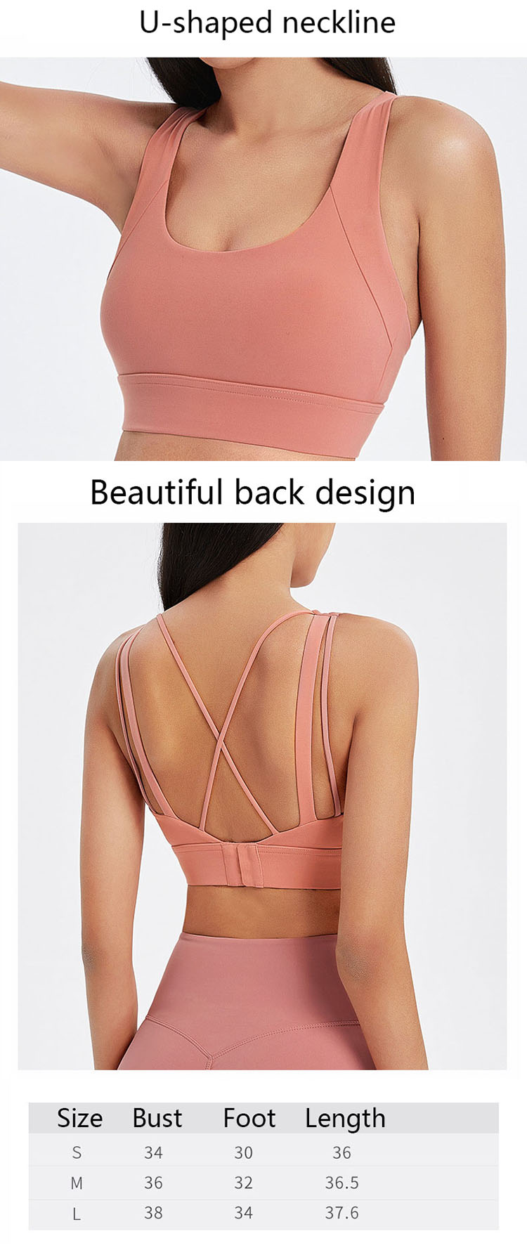 Minimalist clothing focuses on the functionality of hot pink sports bra