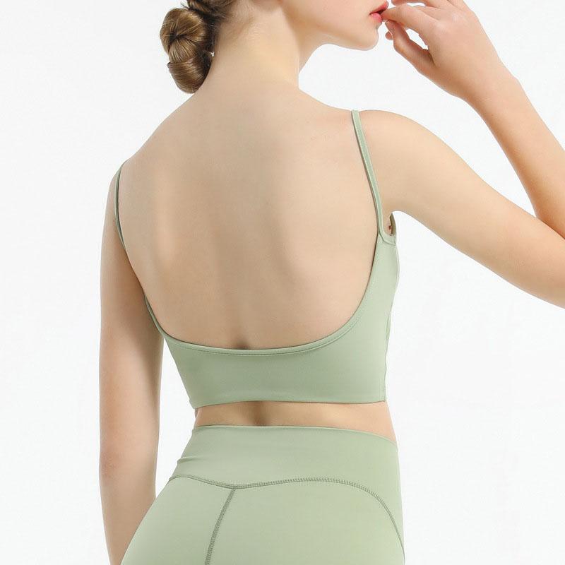 One shoulder sports bra