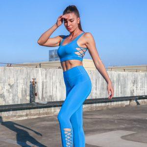 Royal blue workout leggings