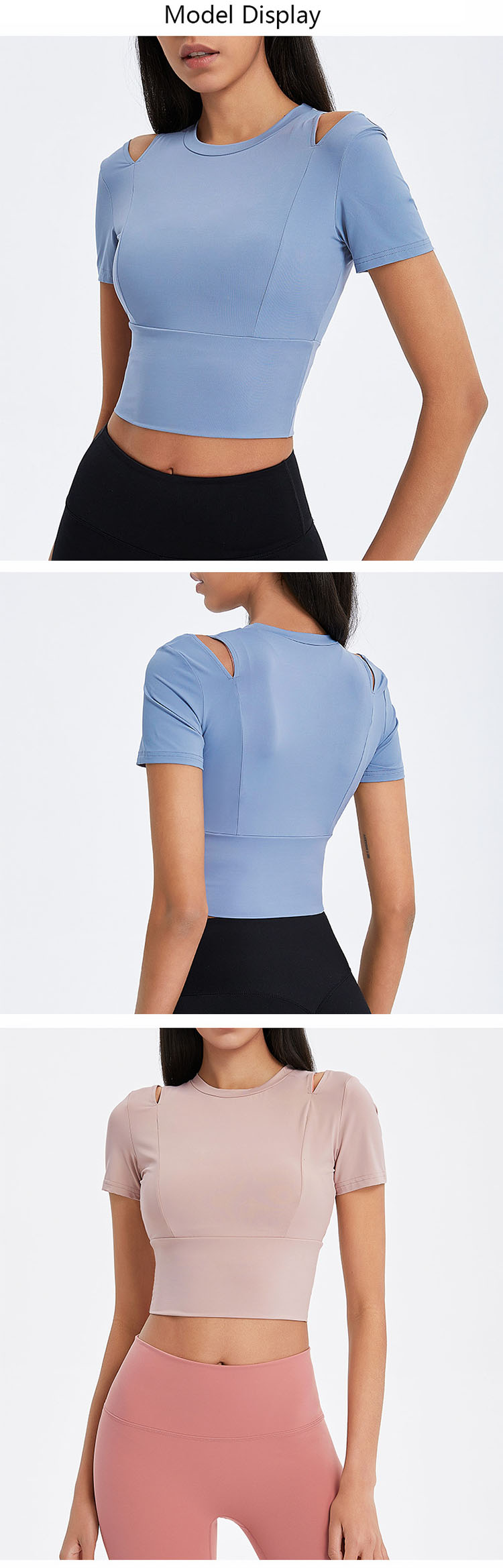 Shoulder line design, showing sexy, breathable and comfortable.