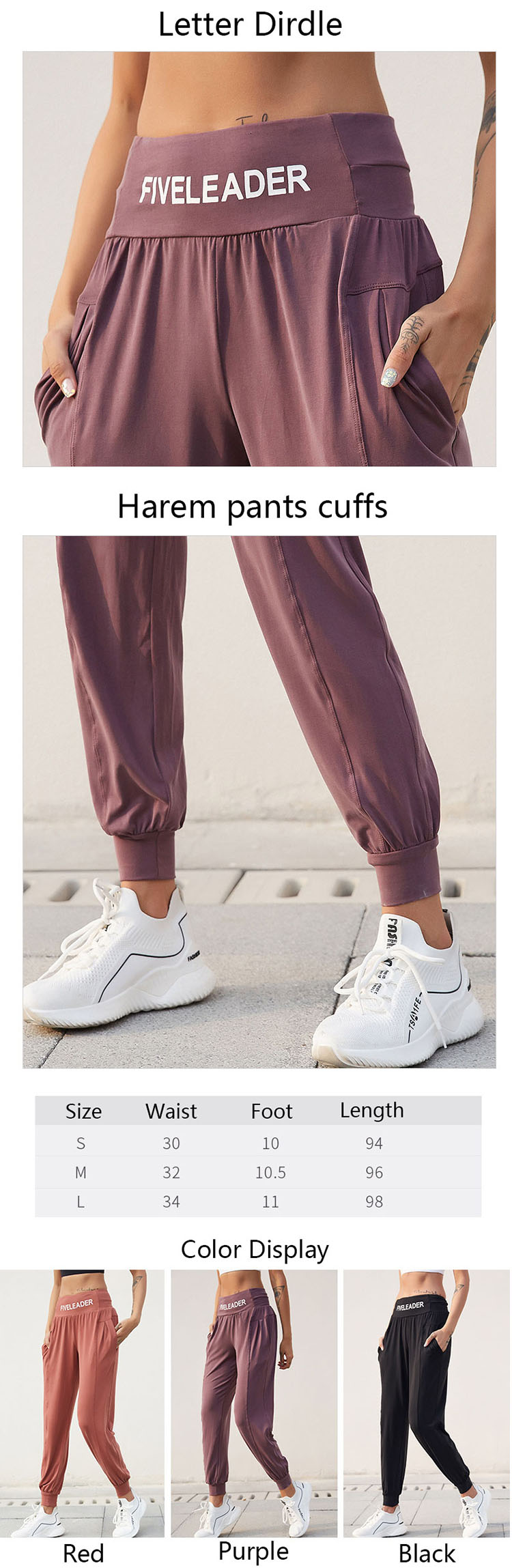 The wide leg yoga trousers make it easy to wear and easy to move