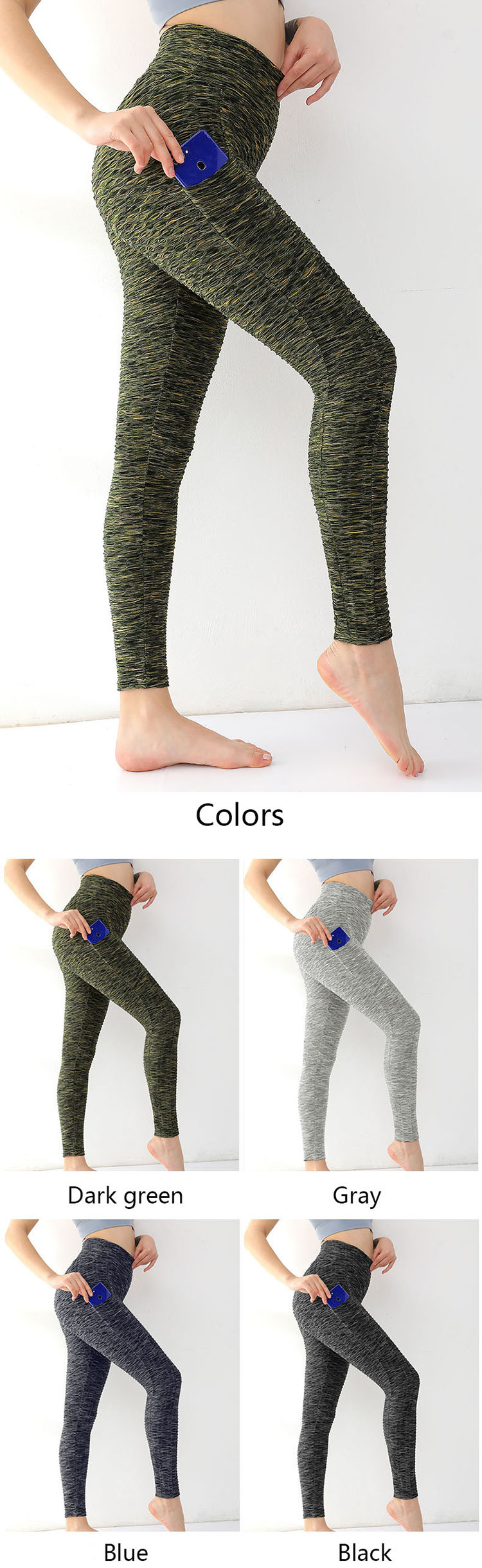 Types of yoga pants are very inclusive. The hollow design combines the changes of knitted texture