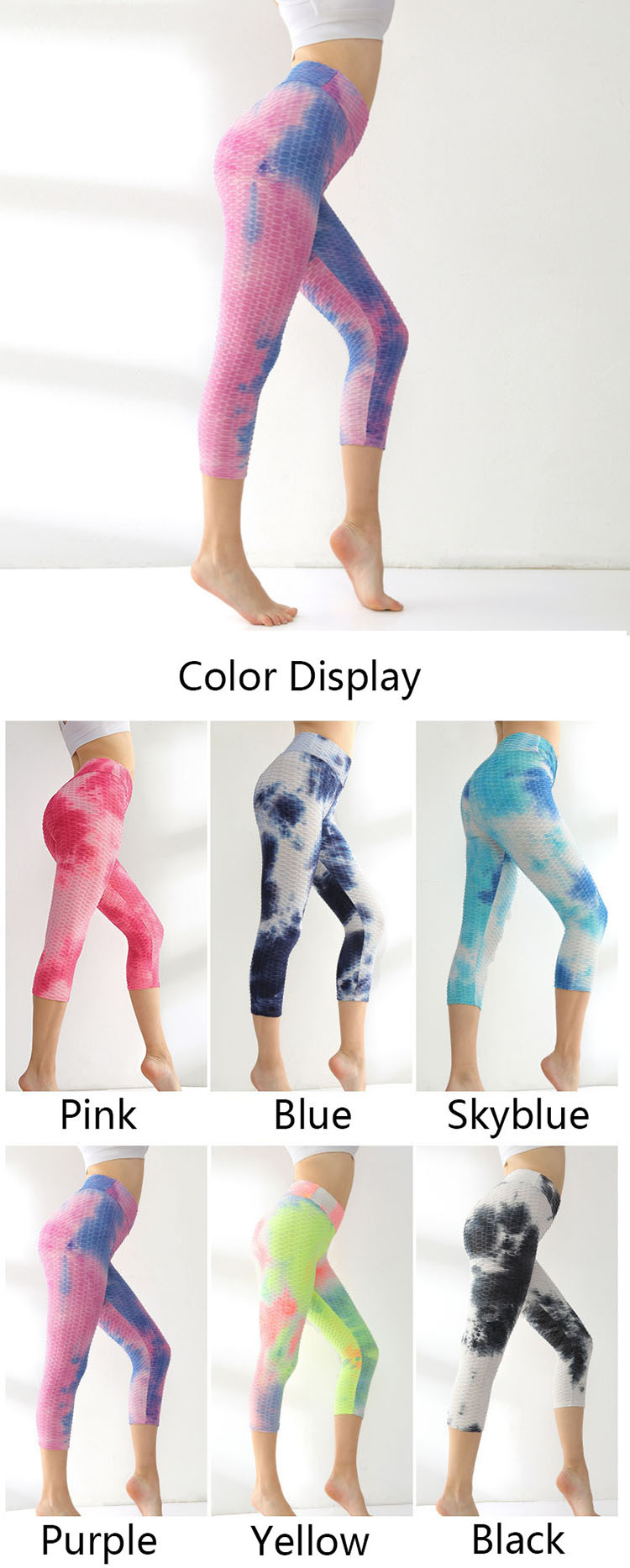 Using the old retro technology, pink ultimate leggings is worn out as a whole or the edges of the parts are washed with water