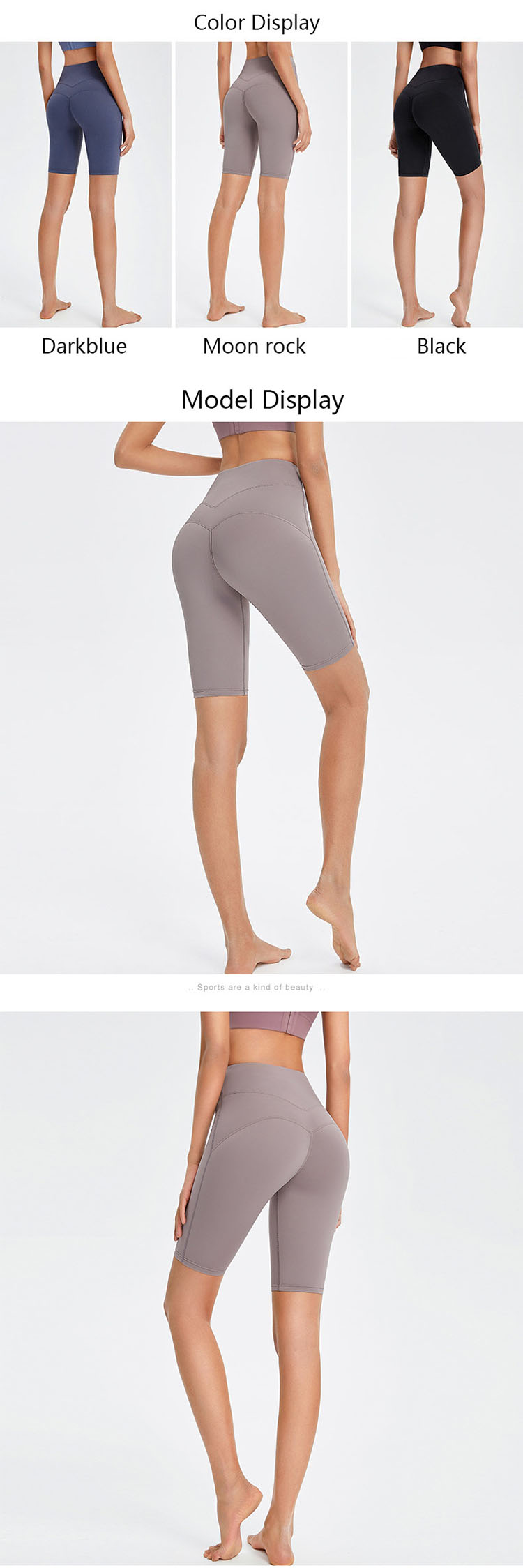the shorts more attractive and extends the side slits. Make the visual effect more eye-catching.