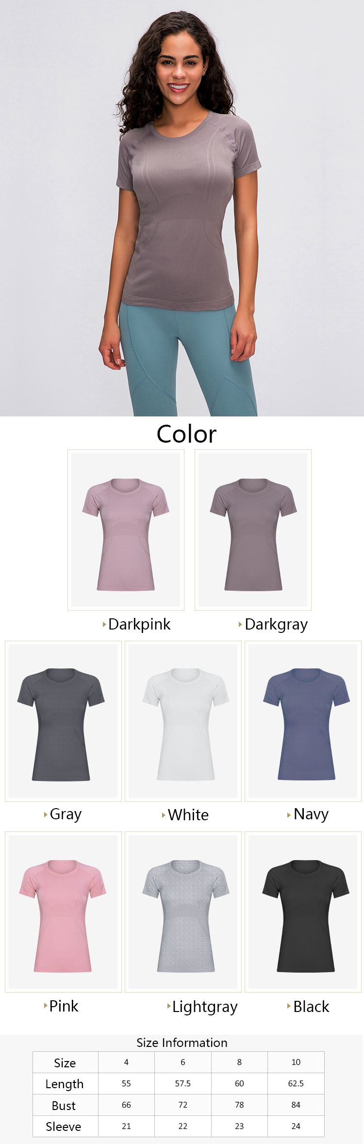 Exercise shirts womens are inseparable from the expression of words