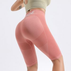 Hot pink yoga pants