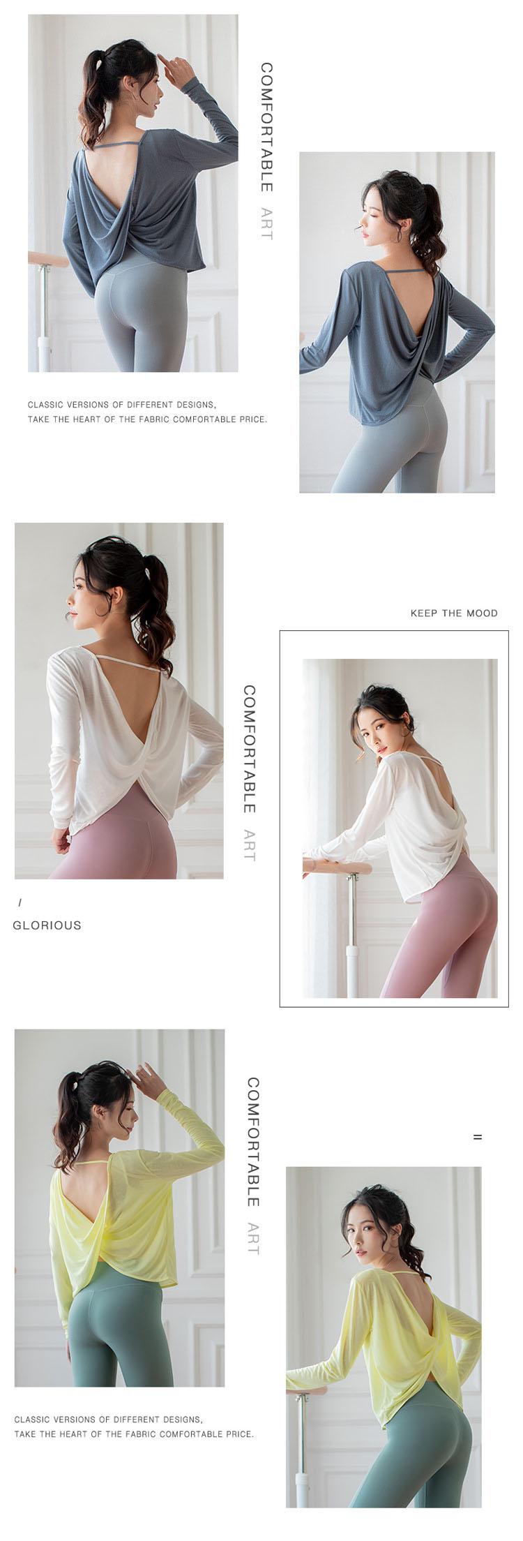 Open back design, showing a sexy figure.