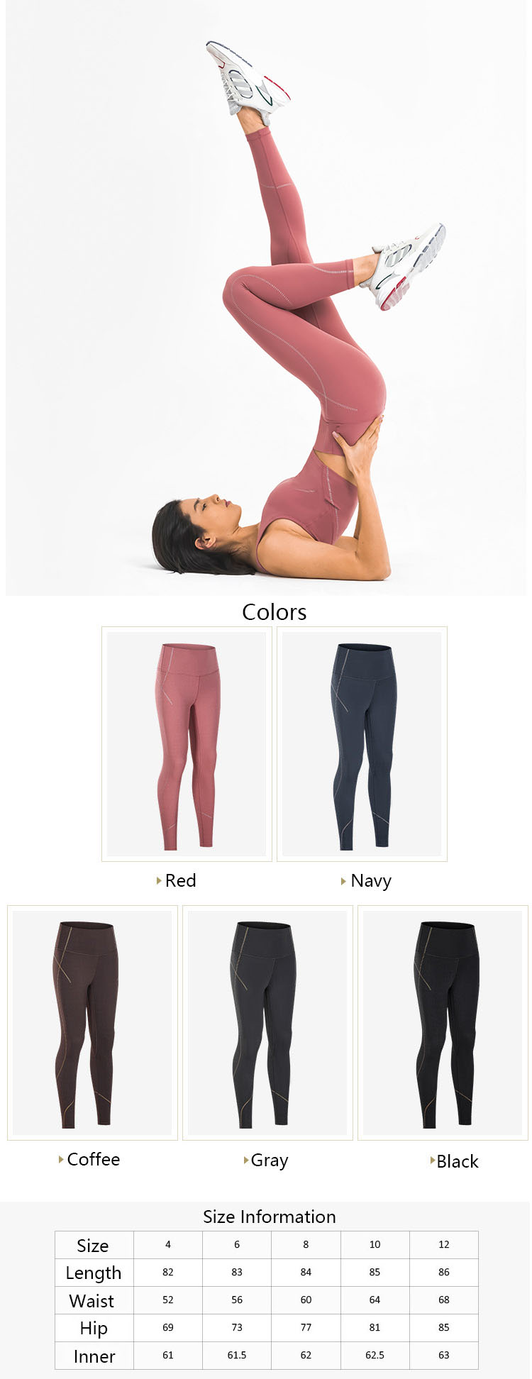 The classic womens black athletic leggings have always been popular