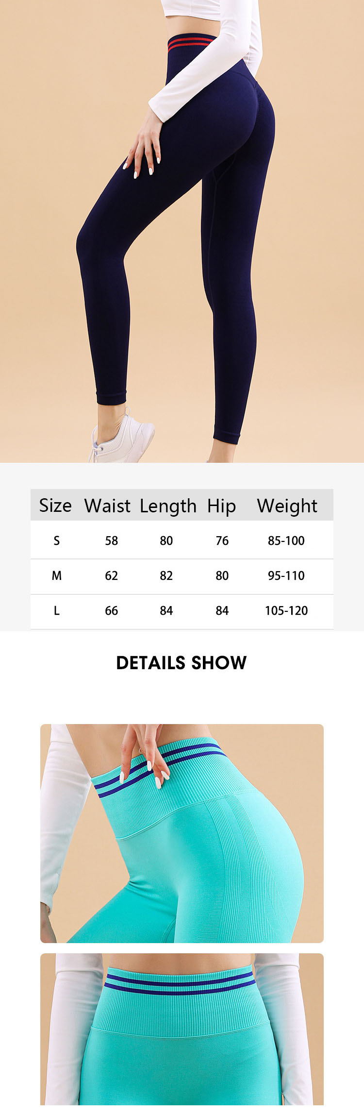 The contrasting color stitching with strong saturation is mainly practical in the application of athleta workout pants