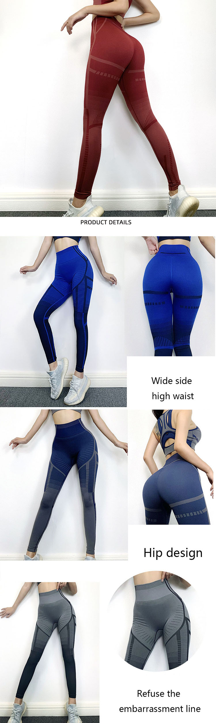 The general sleeves are usually designed on the leggings transparent sport