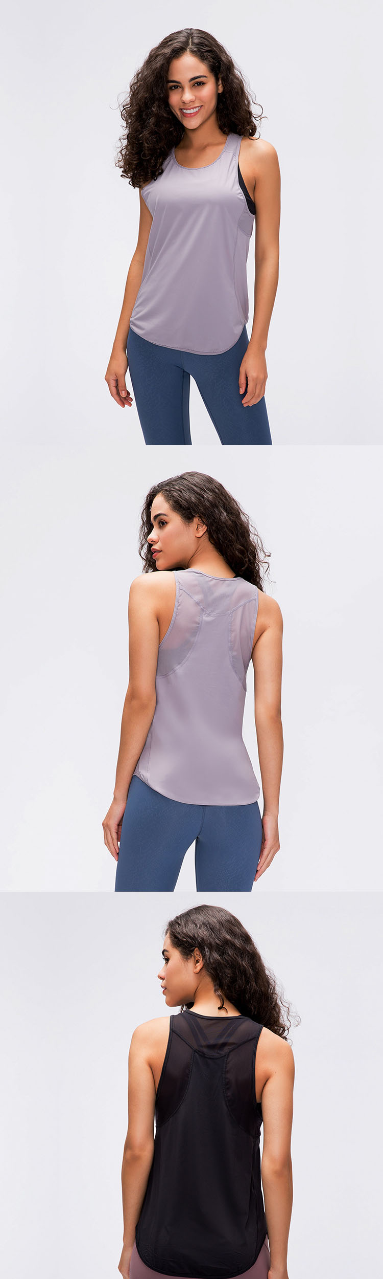 The sleeveless vest is more comfortable and free, and the movement is not stuffy.