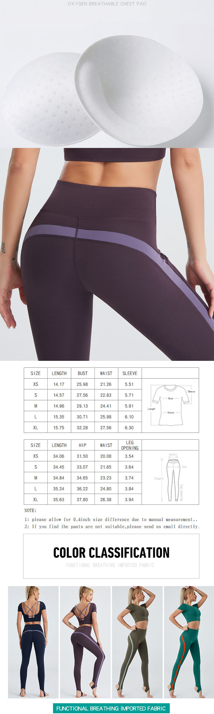 Three-dimensional tailoring to modify the figure. Skin-friendly and breathable, exercise is not sultry.