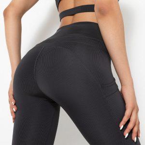 Black running tights