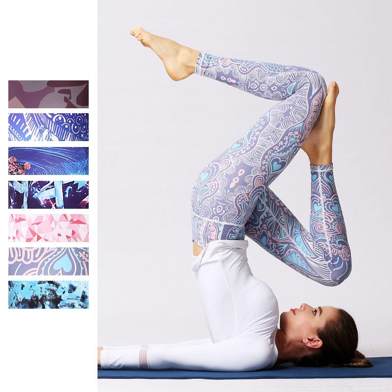 Colourful sports leggings