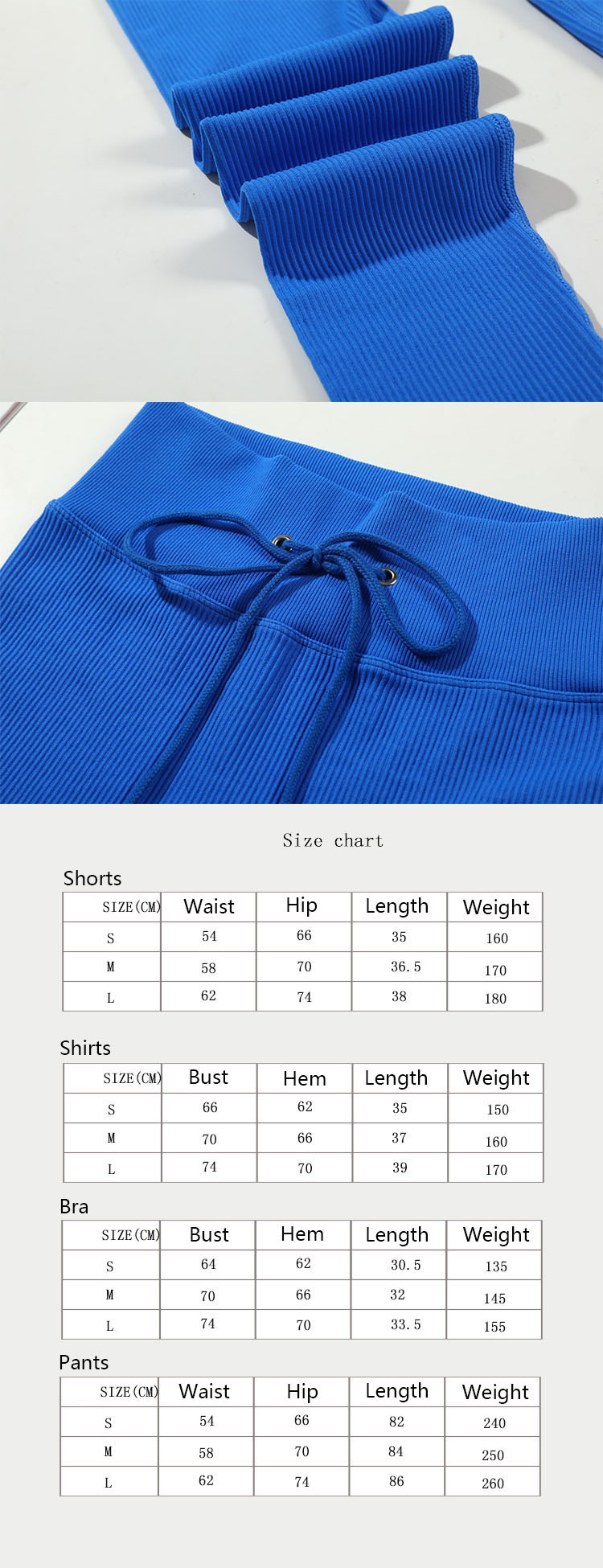 Sports fabrics are soft, comfortable and unfettered, and enjoy a smooth exercise experience.