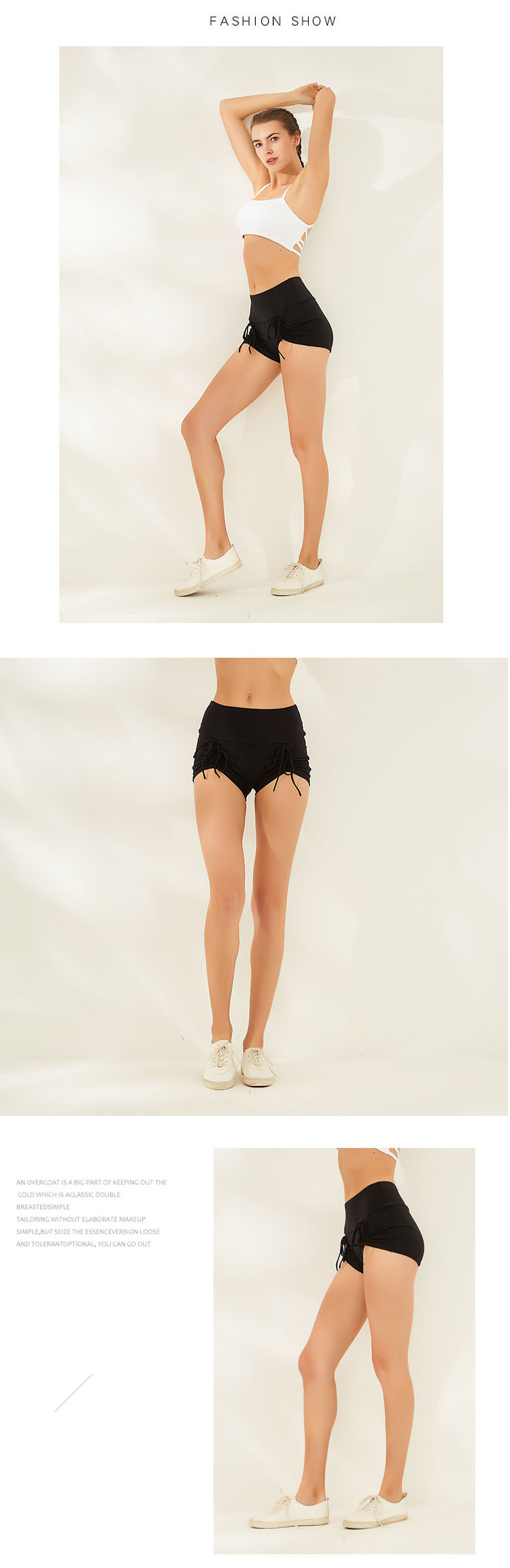 The new fit high-waist design, the hidden meat looks thin, slender and tall.