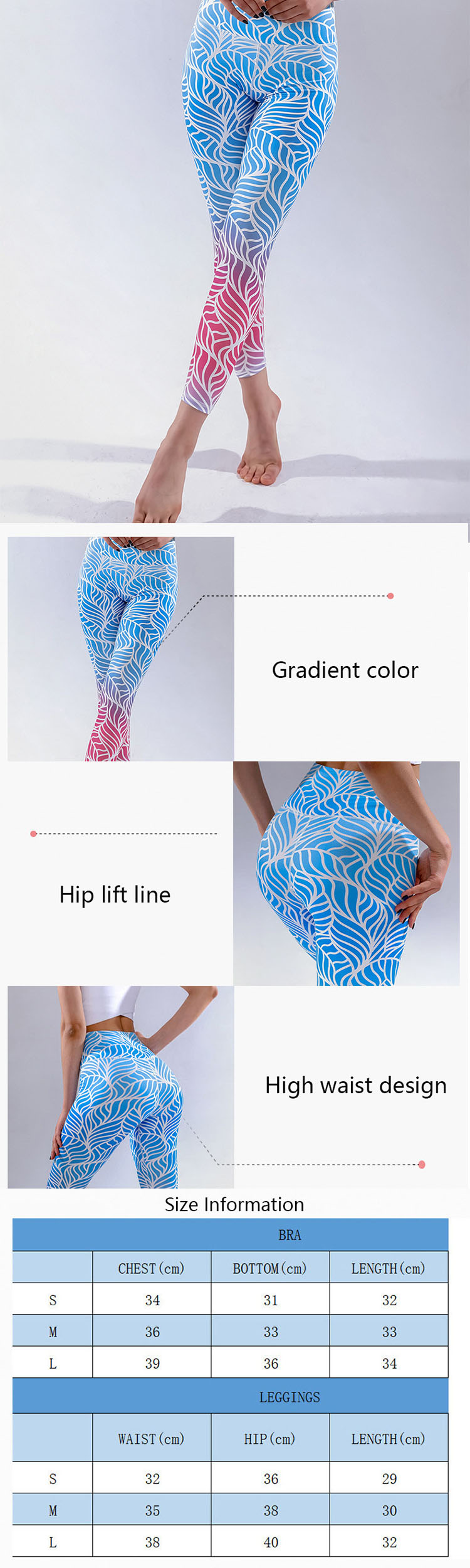 The trend of colorful workout leggings has been in the fashion circle for many years