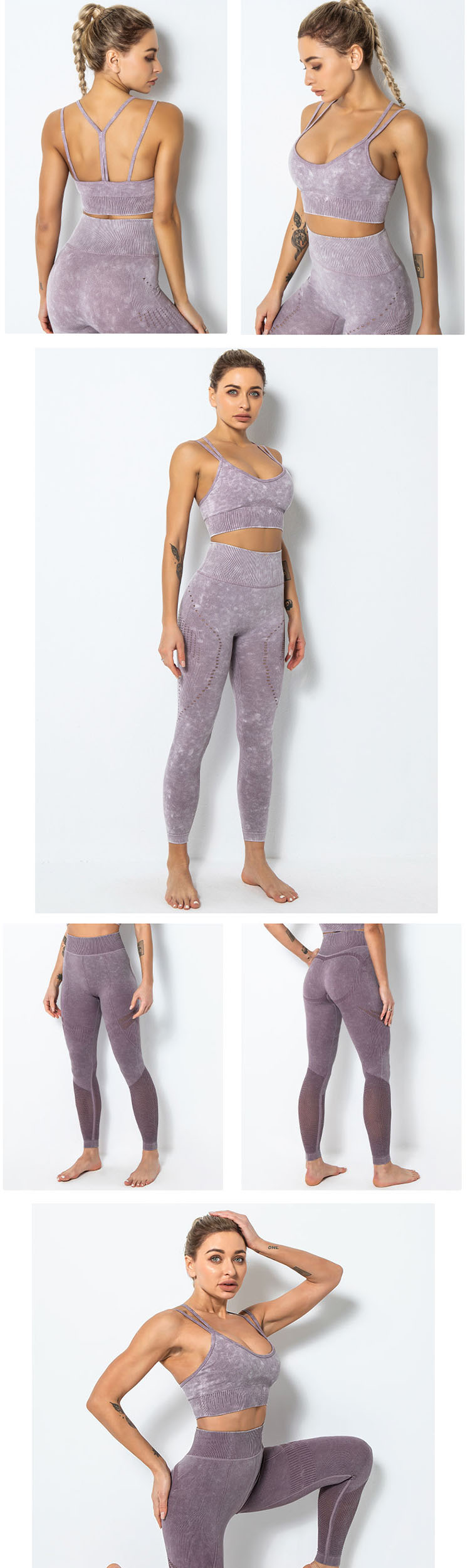 Use sheer yoga leggings to create close-fitting and support