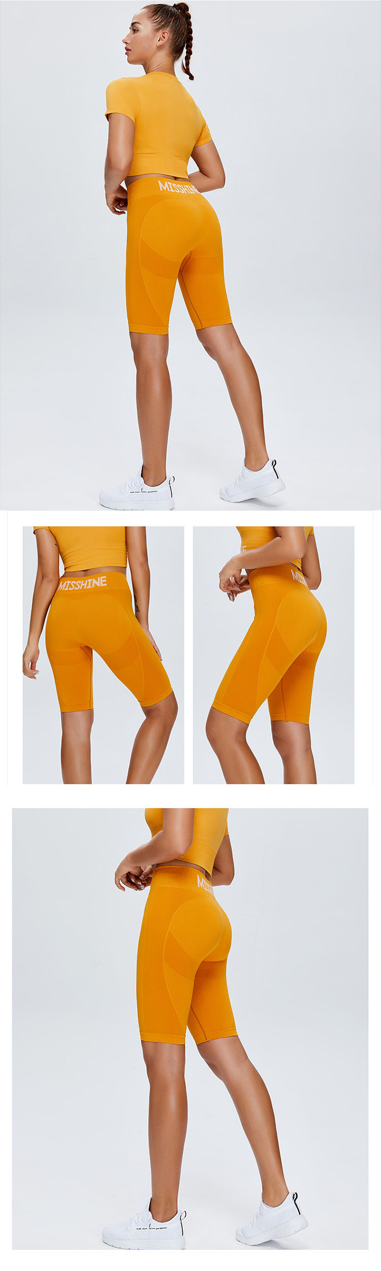 Wrap around the waist and gather the abdomen. It shows a small waist and brings you a comfortable wearing experience.