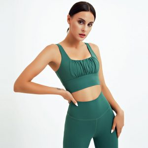 Green athletic leggings