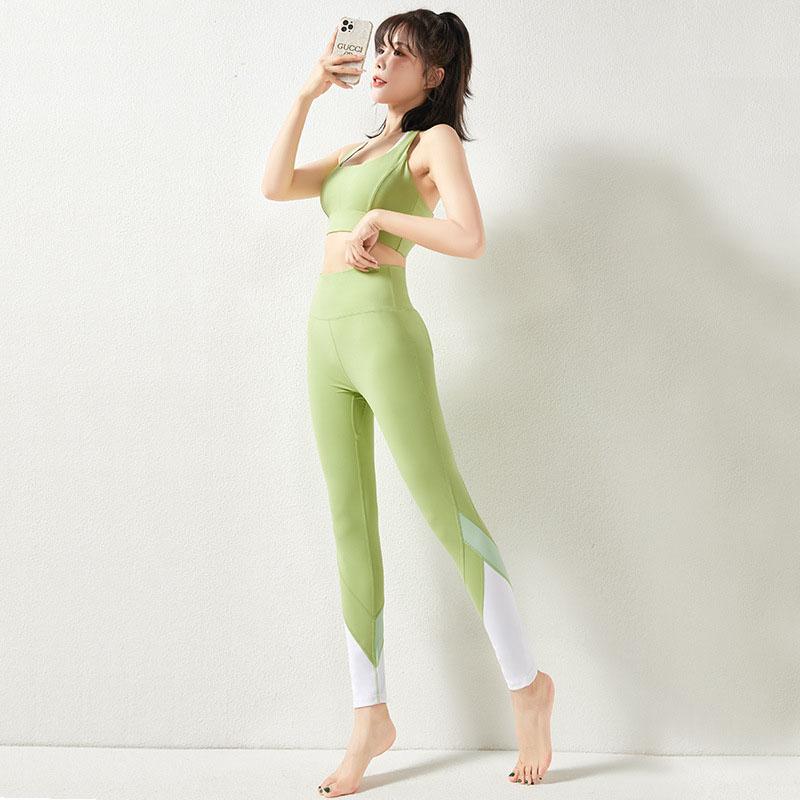 Green sports leggings