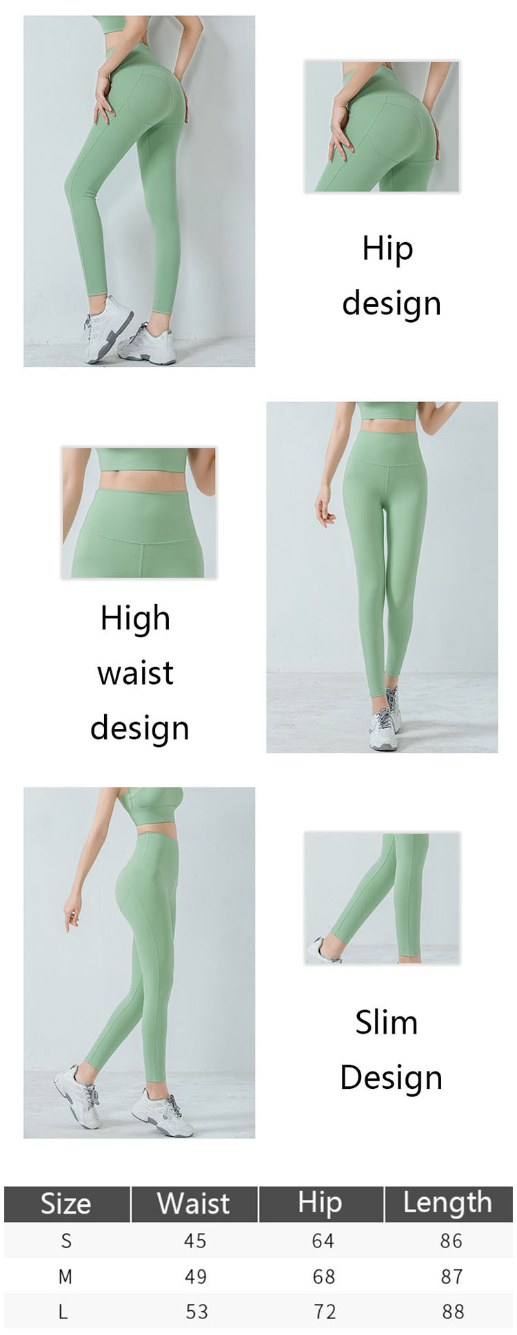 Green workout pants are paying more and more attention to the manufacturing process