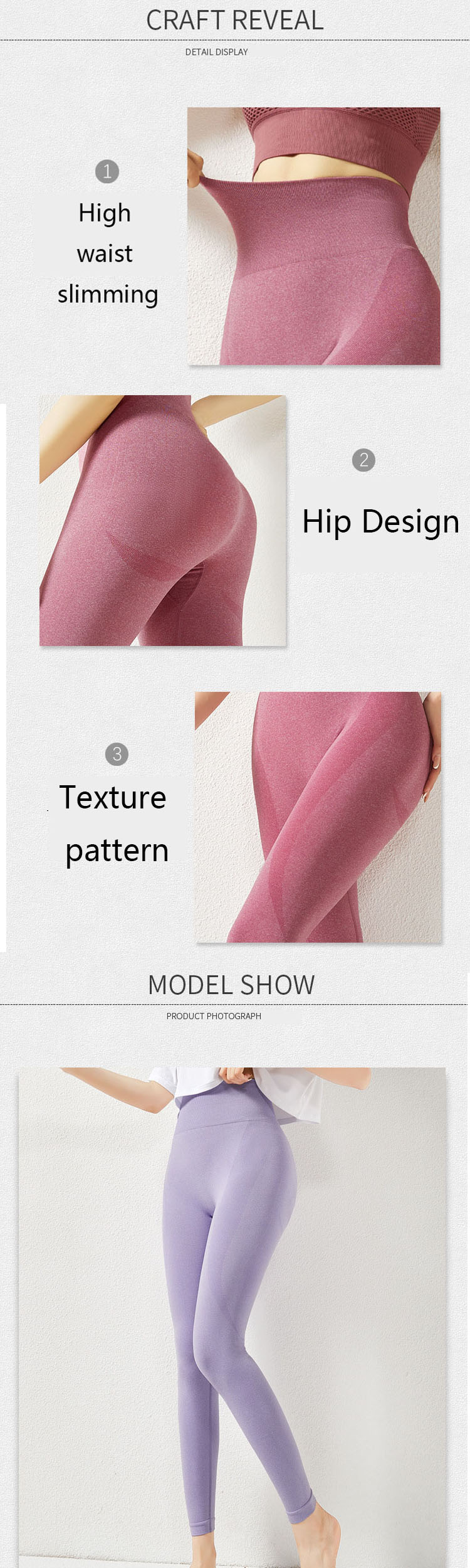 High elasticity and comfortable wrapping, tight and not squeezing, abdomen is thinner.