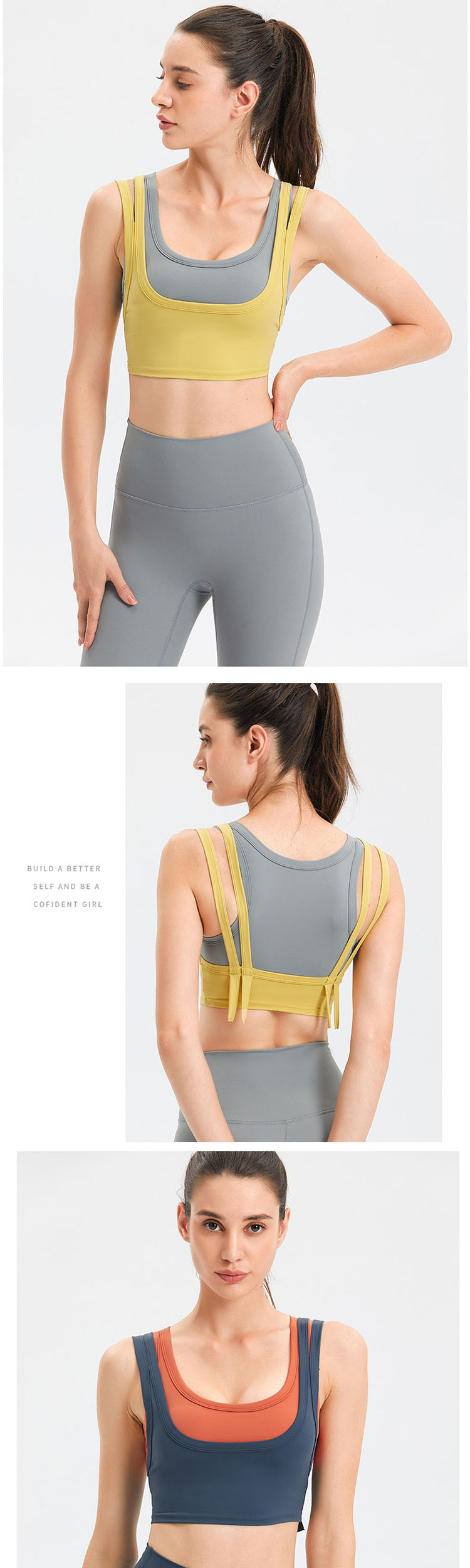 I-shaped back design, breathable and slim, without restraint in movement.
