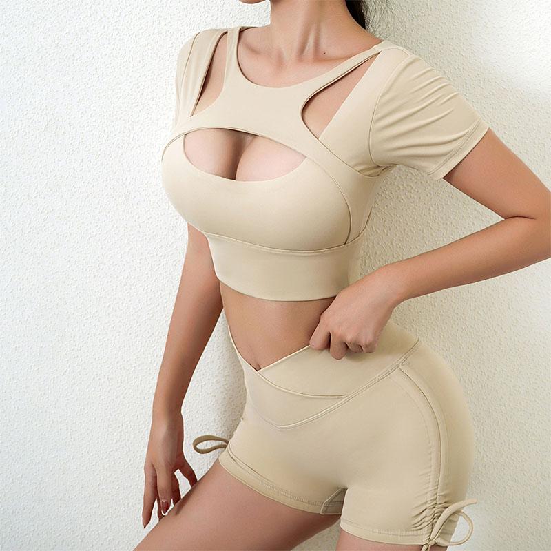 Khaki gym leggings